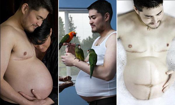 Primeiras imagens do homem grávido