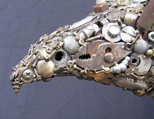 Esculturas de metal reciclado