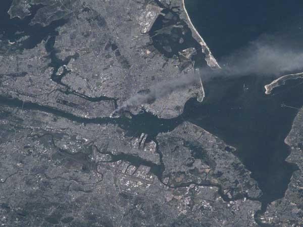 O 11 de setembro visto do espaço