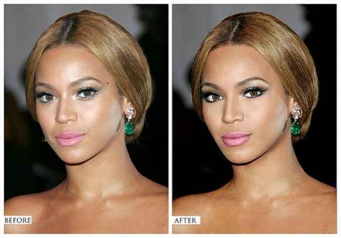 Antes e depois de retoques com fotochop de celebridades