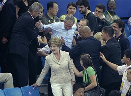 Bush bebaço nos jogos olímpicos