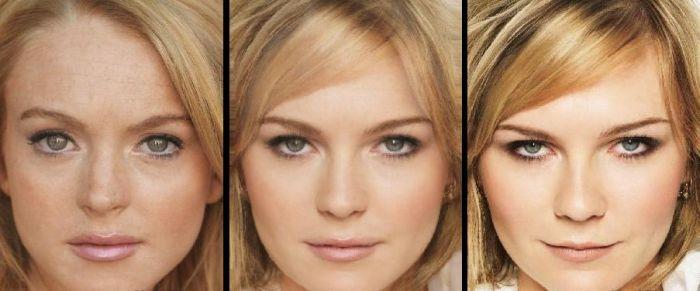 Cruzamento de faces de celebridades