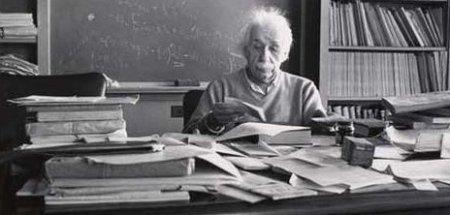 Albert Einstein: tão genial quanto bagunceiro