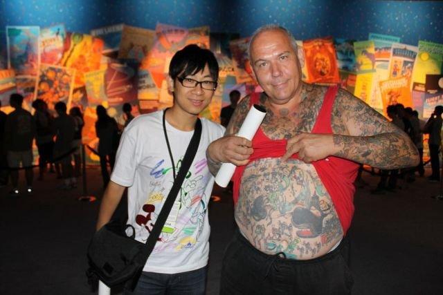 George Reiger, o cara das tatuagens Disney