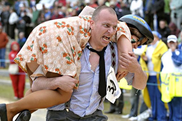 Corrida com a esposa nas costas 2009