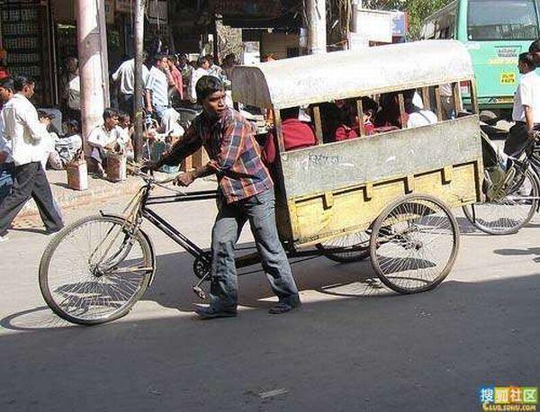 Transporte escolar na Índia