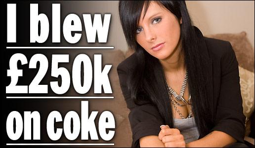 Inglesa cheirou 700 mil reais em coca