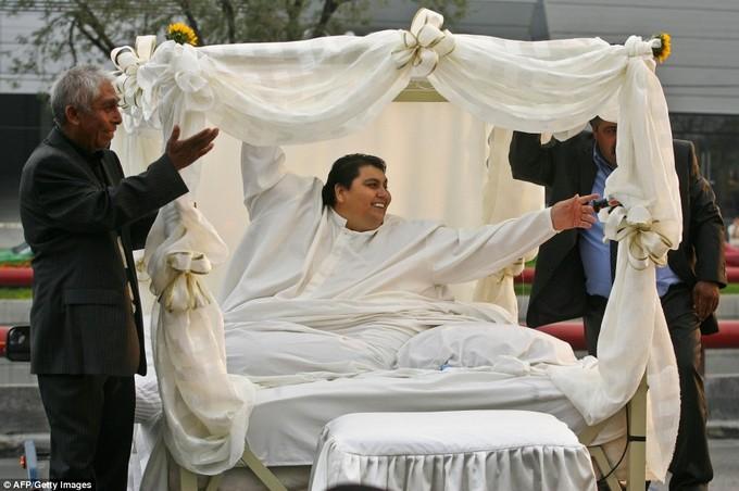 Homem mais gordo do mundo se casou