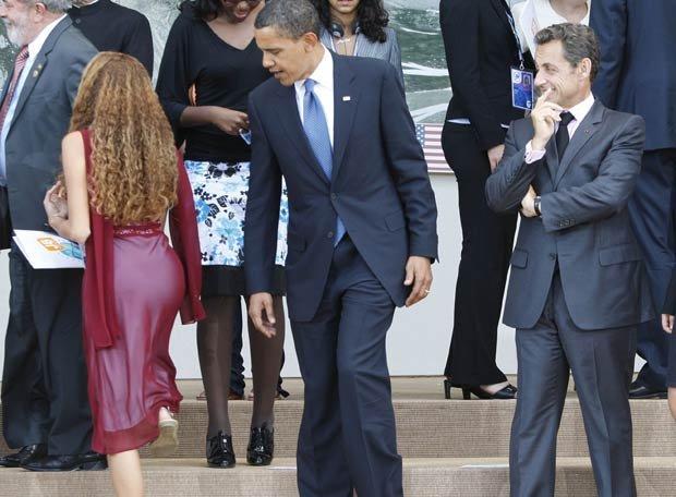 O que olham Obama e Sarkozy?