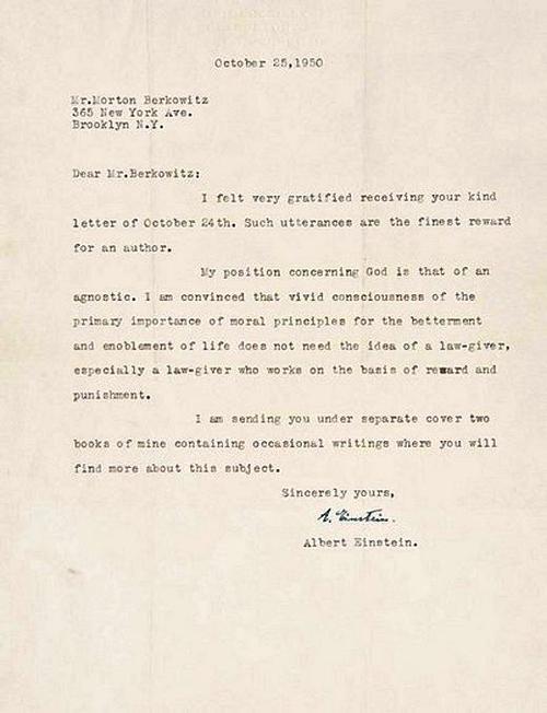 Carta de Einstein a Berkowitz