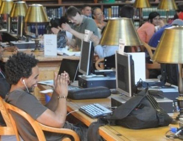 IE na biblioteca de Nova Iorque