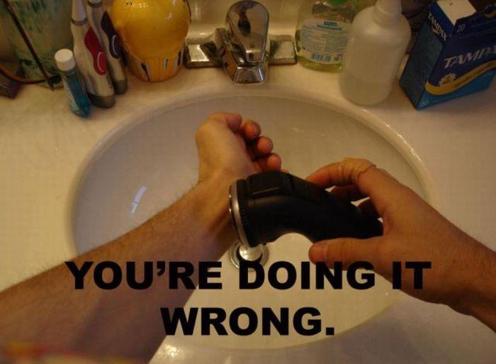 Você está fazendo a coisa errada