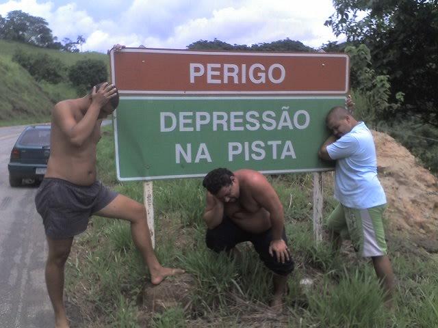 Depress�o na pista