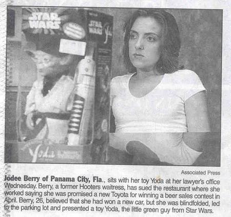 A garota que creu ganhar um Toyota, mas...