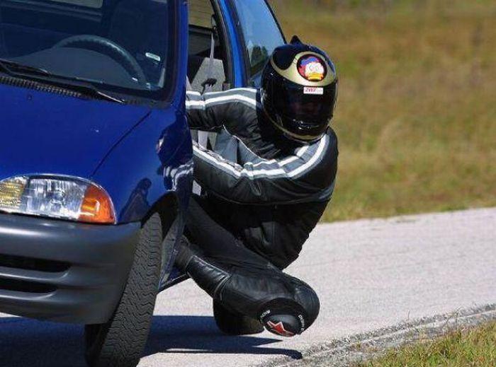 Como equilibrar-se numa moto