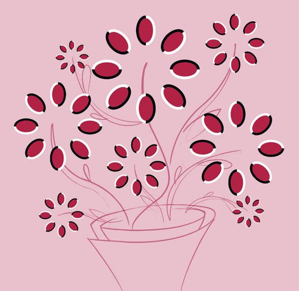 Flores girando