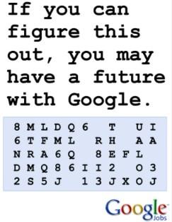 Quer trabalhar na Google? Resolva então este enigma