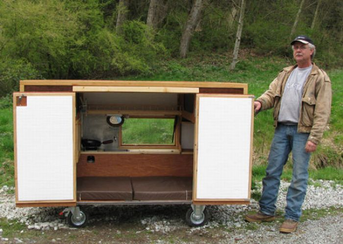 Casa móvel para sem tetos