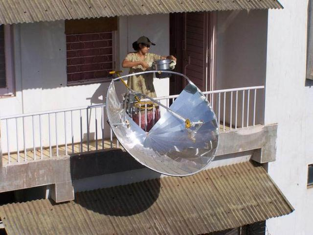 Fogão ecológico solar