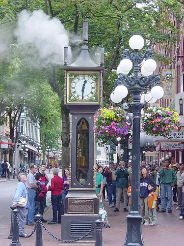 Relógio a vapor de Gastown
