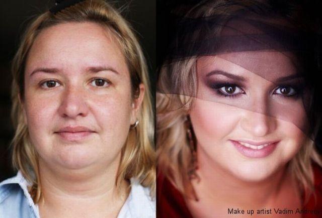 Mais uma sessão de maquiagem, antes e depois 01