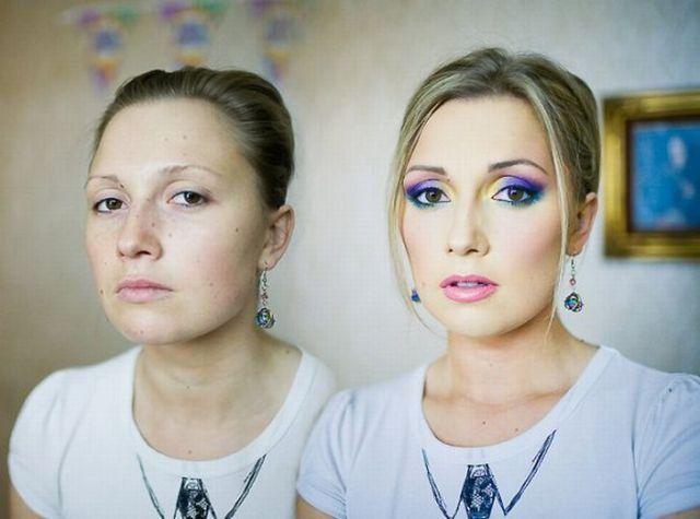 Mais uma sessão de maquiagem, antes e depois 03