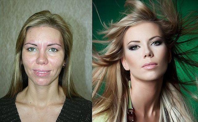 Mais uma sessão de maquiagem, antes e depois 04