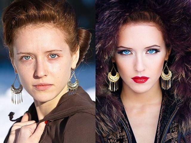 Mais uma sessão de maquiagem, antes e depois 05