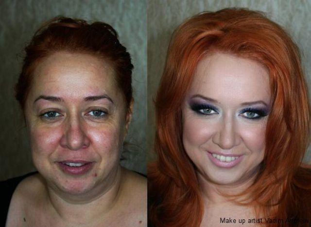 Mais uma sessão de maquiagem, antes e depois 09