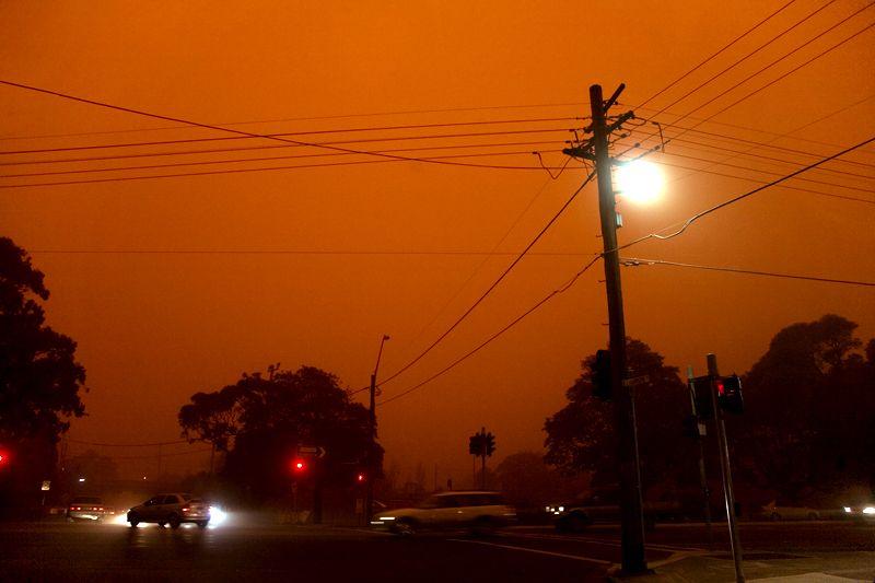 Impressionantes fotografias da tempestade de poeira na Austrália