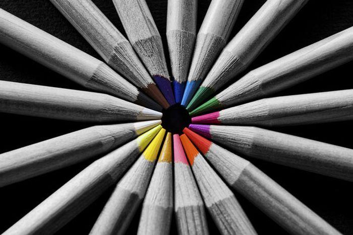 Fotografias parcialmente coloridas