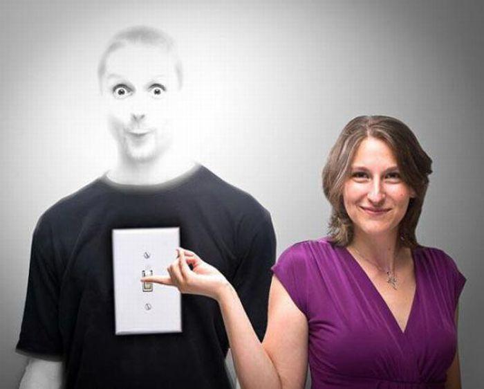 Fotos criativas e surrealistas de um casal