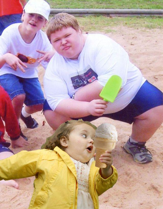 Photoshop da gordinha fujona
