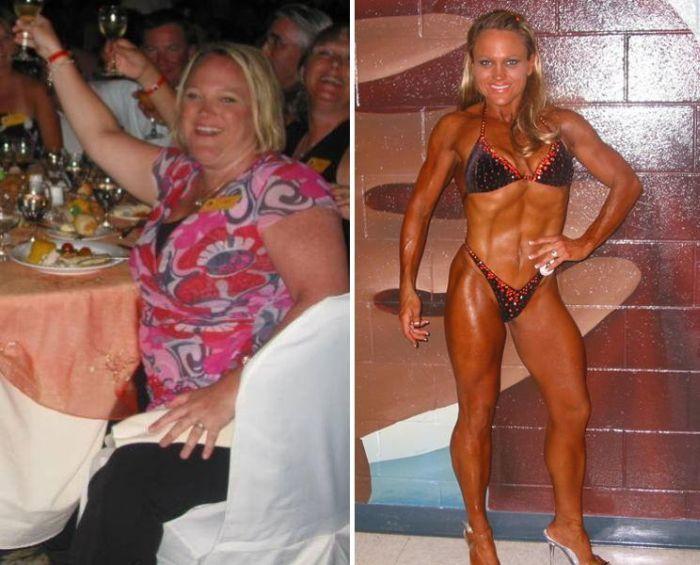Antes e depois de incr�veis mudan�as f�sicas