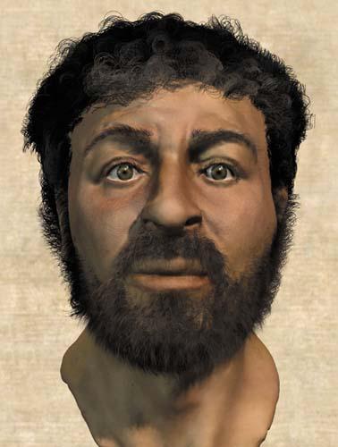 A cara de Jesus.