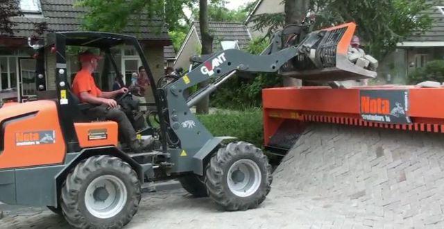 Super-máquina para assentar paralelepípedos 08