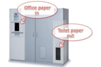 White Goat: máquina para reciclar papel e convertê-lo em rolos de papel higiênico