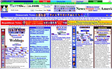 Os cinco piores desenhos de sites da Internet