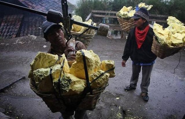 Minas de enxofre da Indonésia